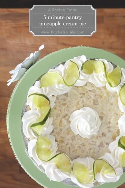 5 minute pantry pineapple cream pie