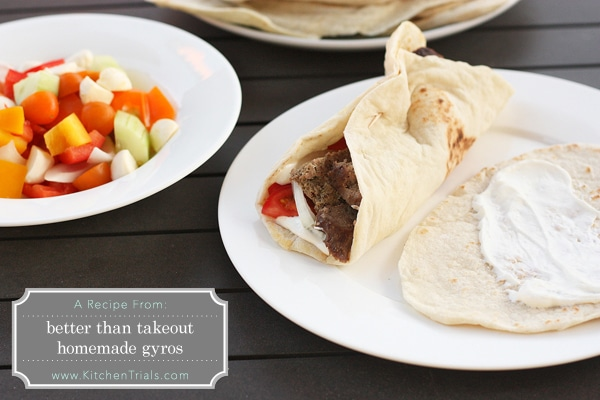how to cook pita bread for gyros