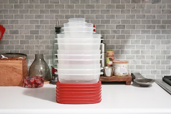 Rubbermaid stacked