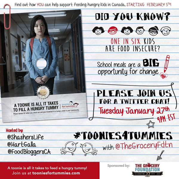 Toonies for Tummies Twitter Party Invite