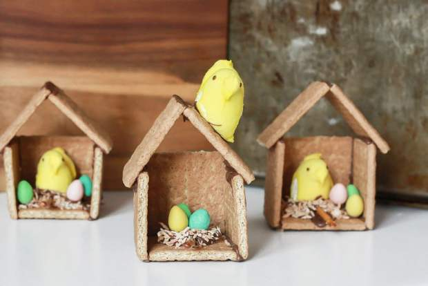 graham cracker bird houses