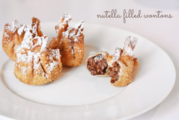 Nutella filled wontons