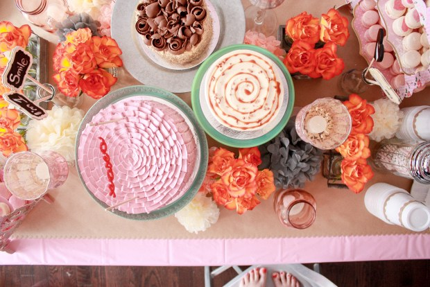 vintage pink party table 3