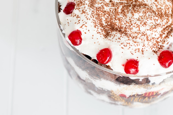 This Black Forrest Cake Trifle is one of the quickest and easiest cakes you can whip up. All you need is three pantry staples to WOW everyone at the table in a matter of minutes. Happy Holidays indeed!