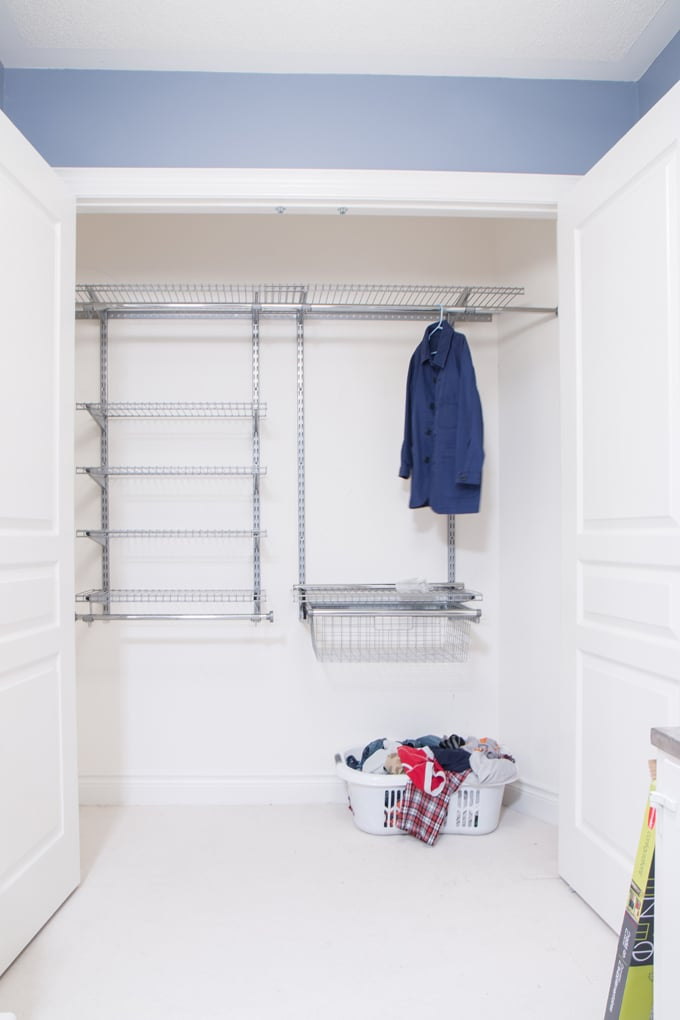 rubbermaid custom closet kit tutorial