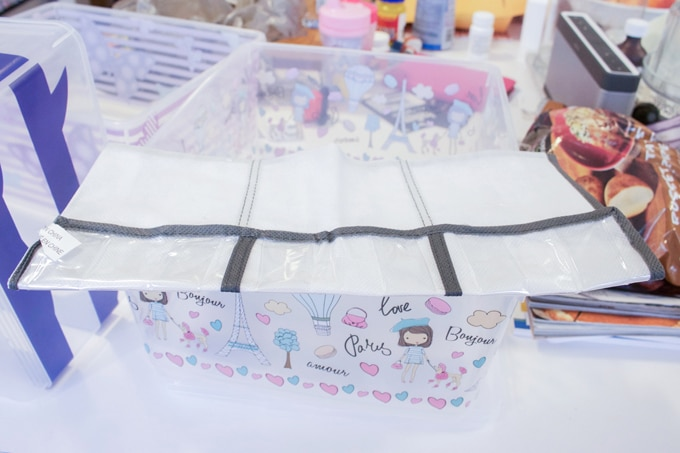 In car storage bin how-to - part of my tips and tricks to survive long road trips with kids!