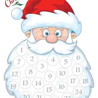 Santa Beard Countdown – Free Printable