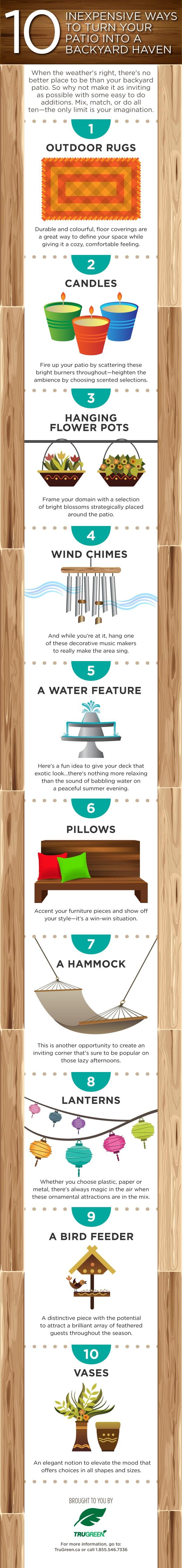 10 inexpensive ways to create a backyard oasis