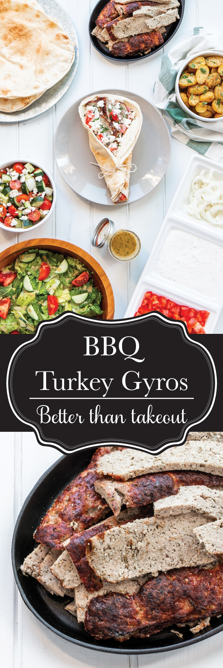 Turkey Gyros are the healthy, superfood alternative to your favourite take-out. And they're just as easy to make as it is to dial the phone and drive to pick them up. Delicious, low in fat and cholesterol, but high in flavour, these will be a new staple to your BBQ routine!