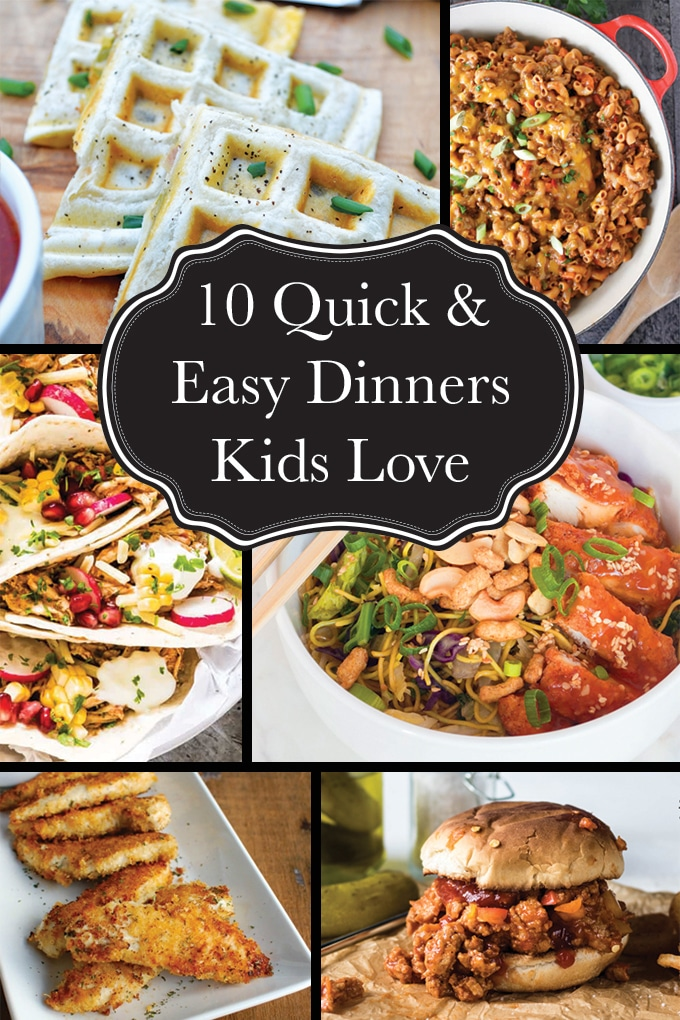 10 quick and easy dinners kids love to eat. With school back in, it's time to find those dinners you can whip up in just a few minutes, and know you're kids are going to devour. Here are 15 favourites guaranteed to have everyone in bed early with full bellies!