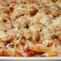Shrimp and Penne Rose Bake