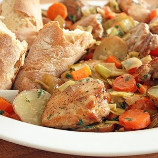 White Wine Braised Chicken and Potatoes