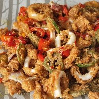 Calamari with Hot Peppers