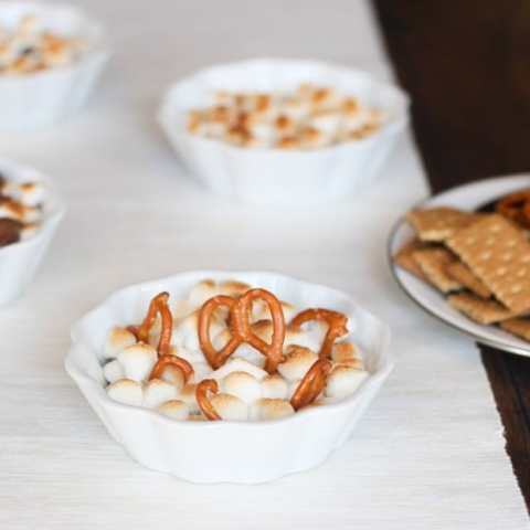 Reese Peanut Butter S'mores Dips (4 ways!!)