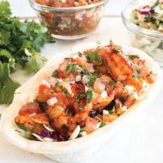 Chili Chicken & Shrimp Tortilla Bowls
