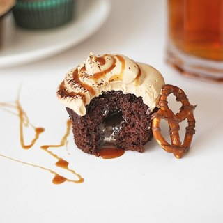 Everything's Better With Beer Chocolate and Salted Caramel Cupcakes