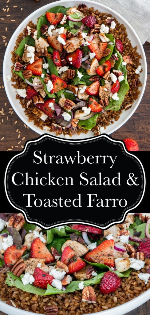 Strawberry Chicken Salad with Pecans, Feta, and Toasted Farro - Recipe