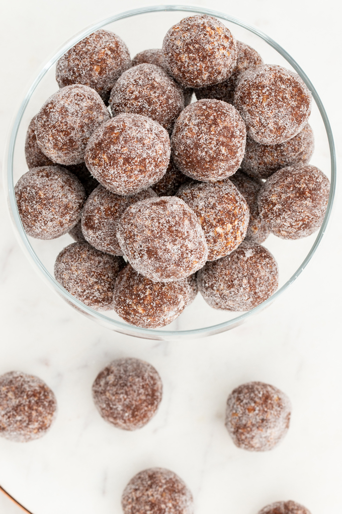 Rum Balls rolled in sugar
