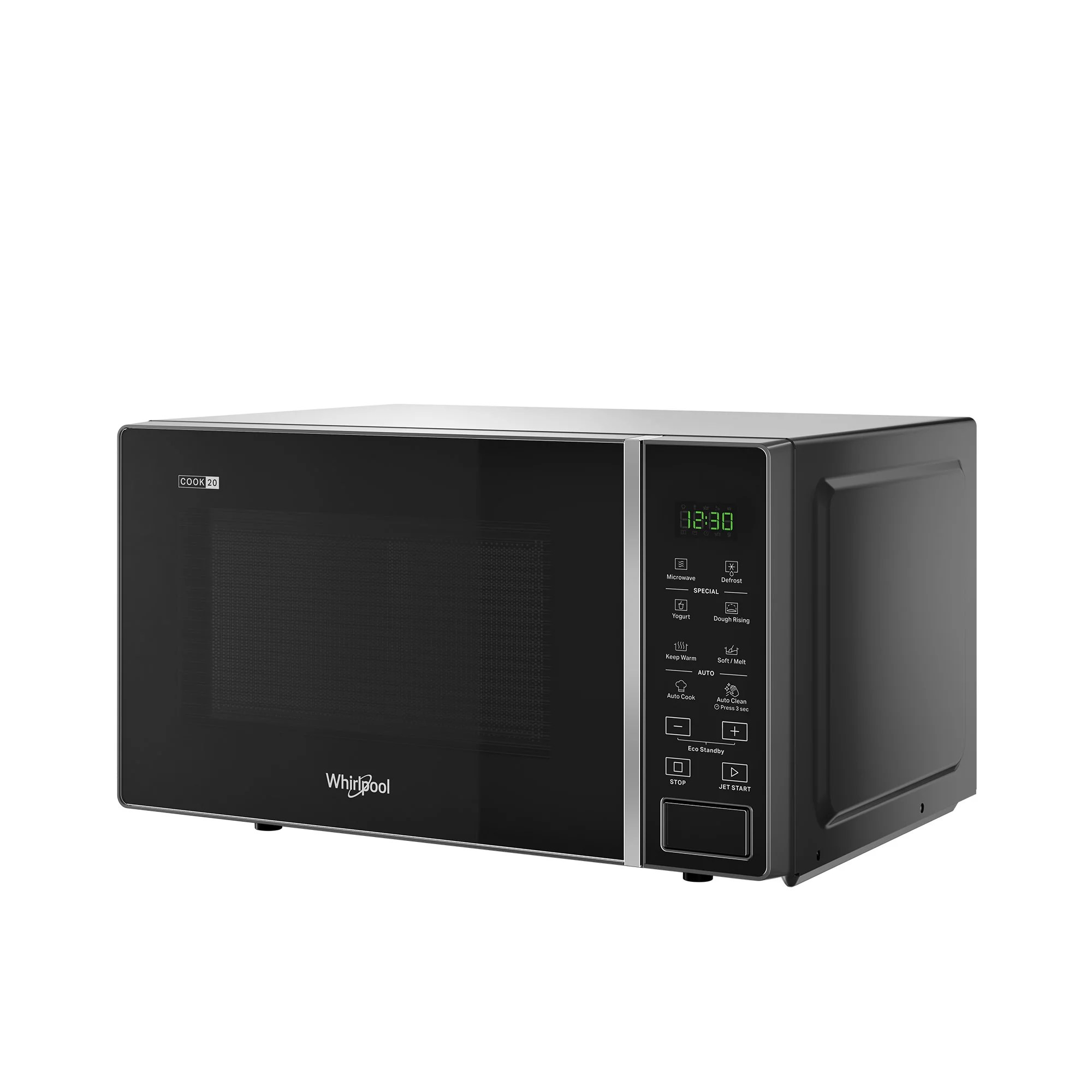 whirlpool microwave oven 20l black