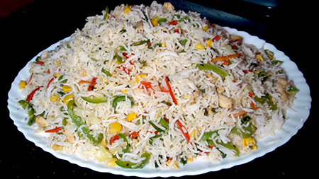 Vegetable Fried Rice Recipe Kitchen With Amna