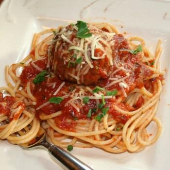 Meatball and Basil Marinara