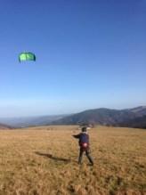 5qm Depower Kite am Himmel