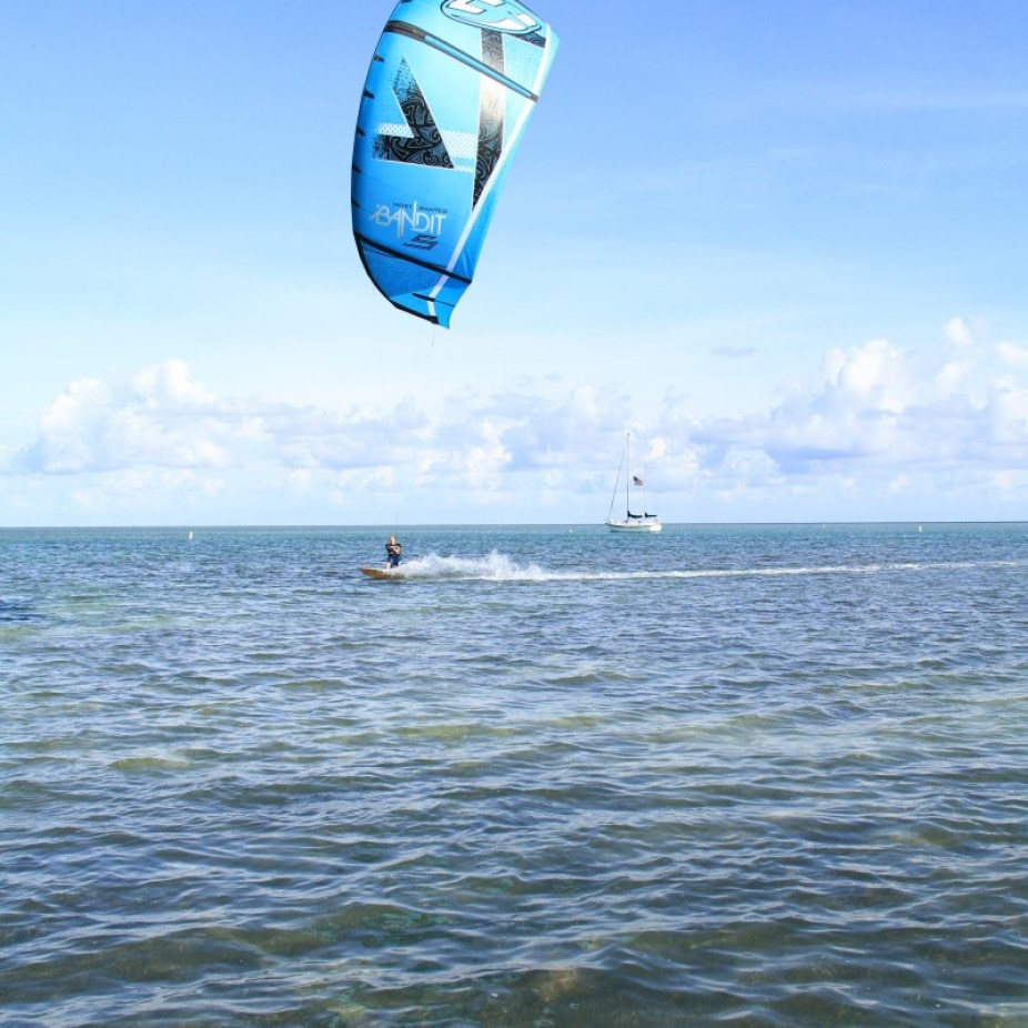 Kiting off Whale Harbour
