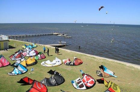 Kitty Hawk's free launch site Kiteworld Kitesurfing kiteboarding