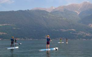 SUPing on Lake Como with KTS40