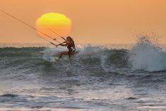 Kari Schibevaag wave kiting at Dakhla, Morocco
