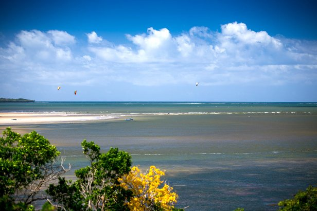 Miles and miles of classic kiteboarding conditions