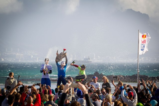 2015 Red Bull King of the Air podium