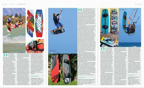 Kitesurfing, kiteboarding, tests, reviews feature in Kiteworld issue #75