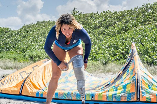 Frances Osorio amputee kitesurfer from Puerto Rico