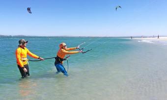 Learn to kitesurf in Langebaan