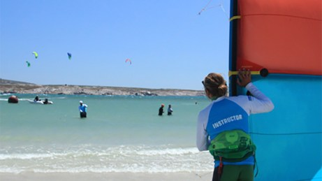 Siren Kiteboarding lessons Langebaan