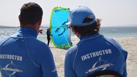 Windchasers kite lessons Langebaan