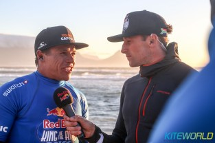 Kevin's relief was clear to see during his interview with KW's Matt Pearce as the sun set on Kite Beach