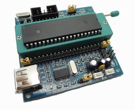 Scheda minima di sviluppo del sistema STC89C51, scheda minima di sviluppo del sistema AT89S51, USBISP Downloader