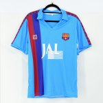 1990-91 Barcelona Away Shirt #9 LAUDRUP Retro Meyba Blue JAL Sponsor1