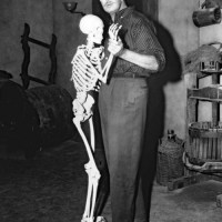 Vincent Price Dancing With A Skeleton