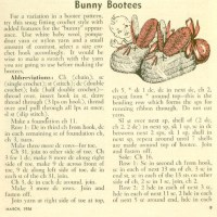 Craft Scan Friday: Bunny Booties