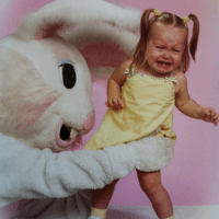 She Did NOT Want Her Photo Taken With The Easter Bunny