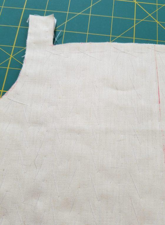 Pad stitching close-up