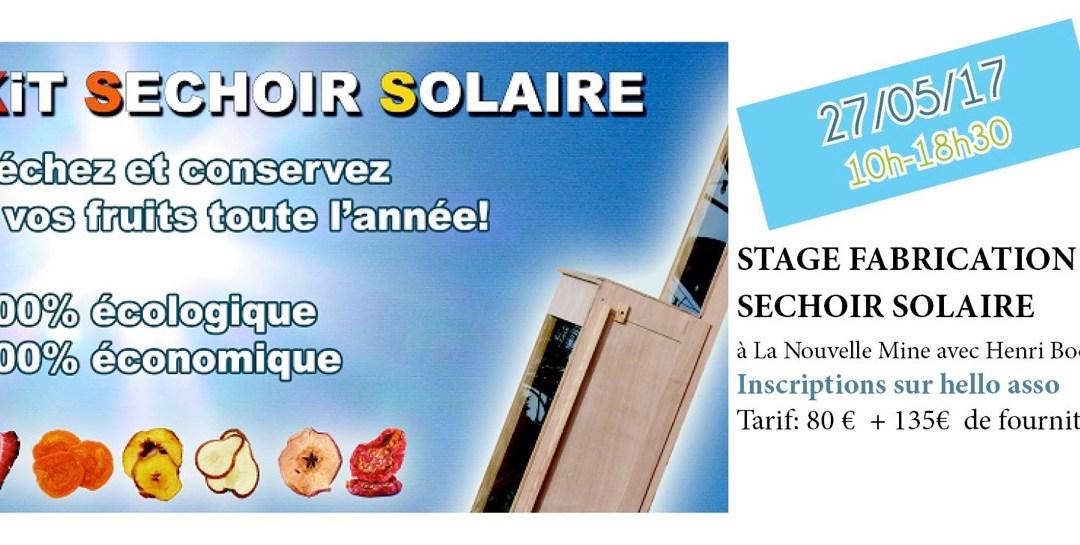 Stage fabrication séchoir solaire: reporté