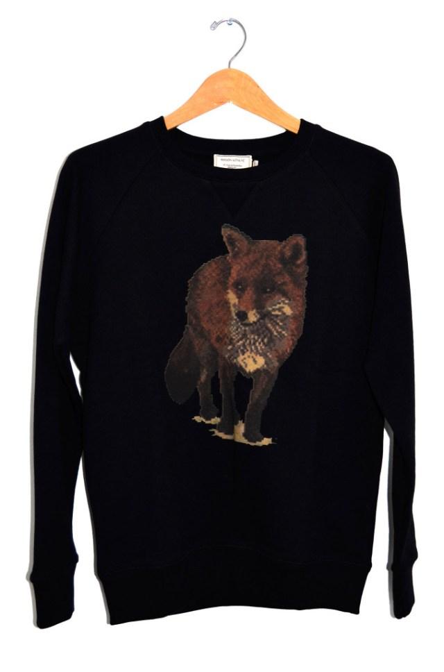 Kitsune Walking Fox Sweater Image: Leo Boutique