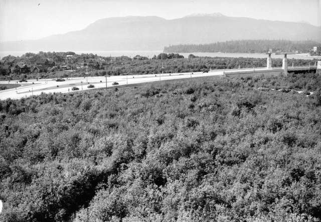 Image: Vancouver Archives, 1935,  Park N10.5 - [Junction of Cornwall and Cedar at entrance to Burrard Street Bridge, AM54-S4-: Park N10.5 .