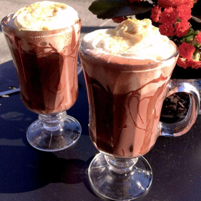 Koko Monk's Brunette Bangle hot chocolate with curry and coconut. Photo Credit: Koko Monk