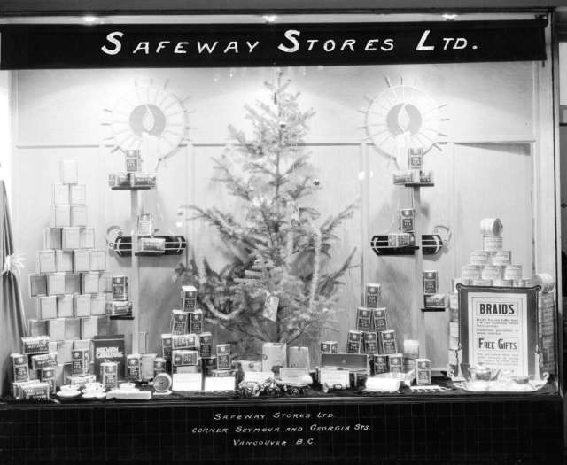 Safeway Stores Limited corner Seymour and Georgia Streets - Vancouver, B.C. ; 1932. Image: Vancouver Archives