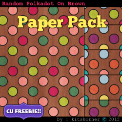 Random Dots (Brown) Scrapbook Paper Pack CU Freebie